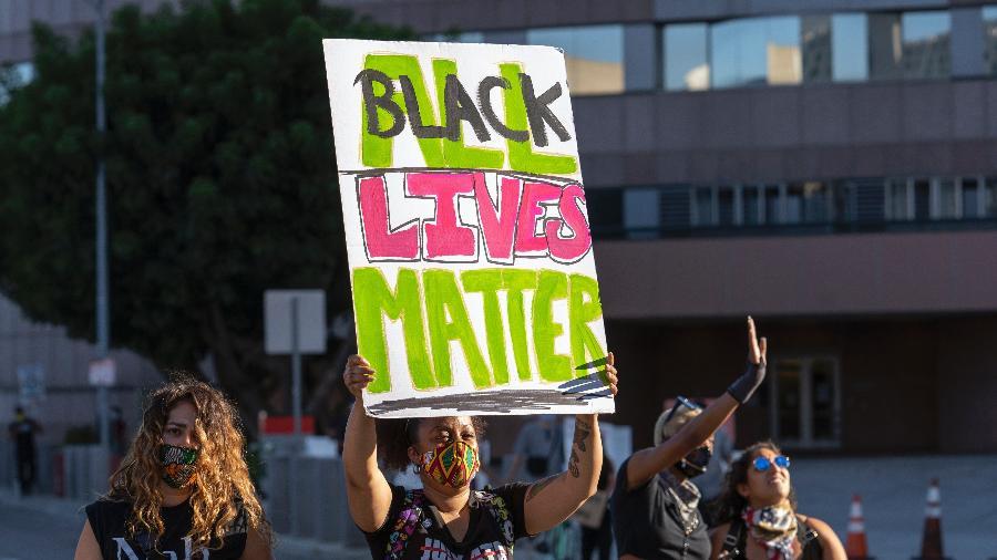 As ruas de Minneapolis foram tomadas por protestos após a morte de George Floyd - Barcroft Media/Barcroft Media via Getty Images