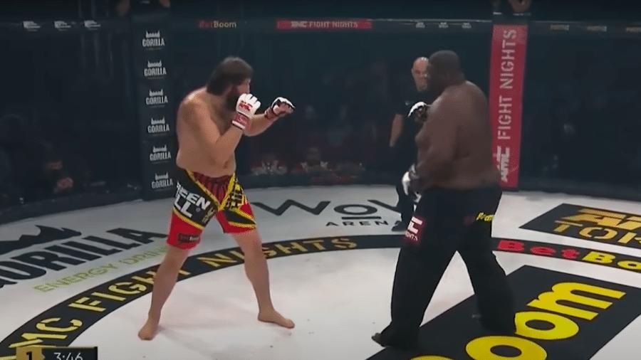 Zuluzinho enfrentando o russo Yusup Shuaev - Reprodução/Youtube