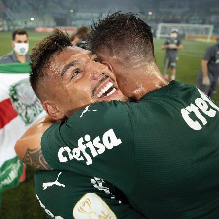 Gabriel Menino comemora título do Palmeiras na Copa do Brasil - Lucas Figueiredo/CBF