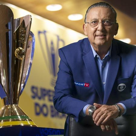 Galvão Bueno narra a Supercopa do Brasil, domingo, após 14 meses afastado - Reprodução/Twitter