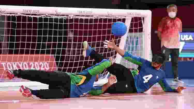 Romáro e Leomon, da seleção brasileira de goalball - Lintao Zhang/Getty Images - Lintao Zhang/Getty Images