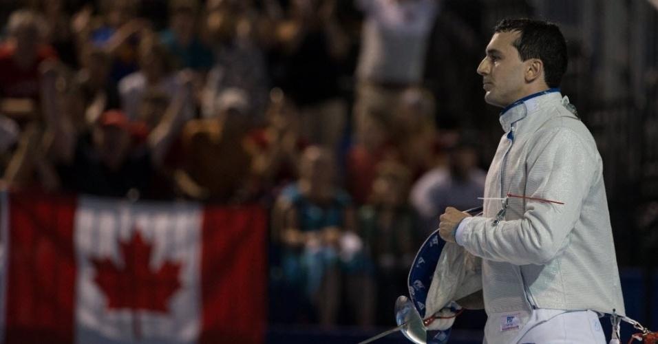 Brasileiro Renzo Agresta perdeu a semifinal para o canadense Joseph Polossifakis, mas levou medalha de bronze na esgrima com sabre nos Jogos Pan-Americnaos