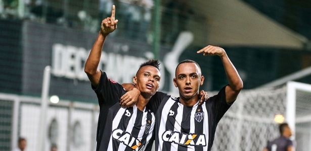 Dodô (à direita) foi dois dos destaques do Atlético-MG na goleada sobre o Boa Esporte, no fim de semana