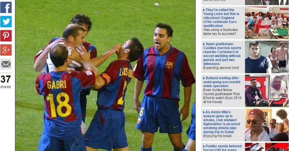 Zidane e Luis Enrique se estranham durante clássico entre Real Madrid e Barcelona