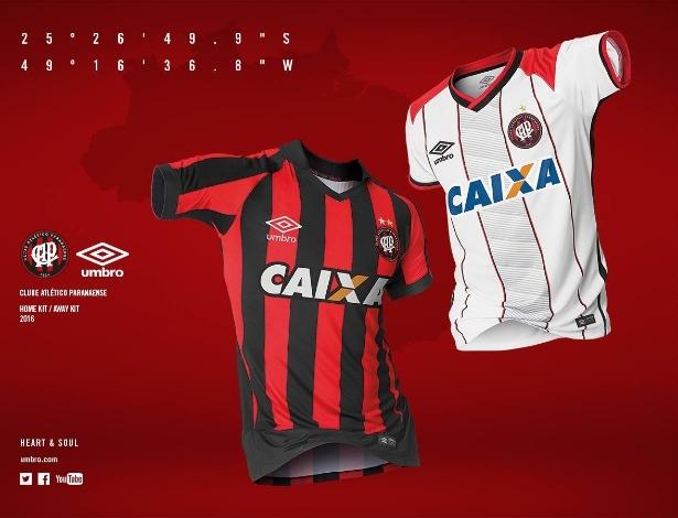 Novos uniformes do Atlético-PR para a temporada 2016