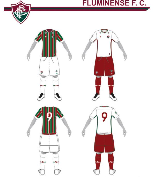 Uniformes 1 e 2 do Fluminense