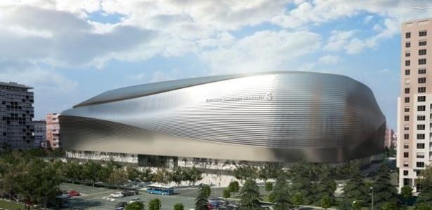 Projeto do novo Santiago Bernabéu, que deve começar a ser construído em março de 2017