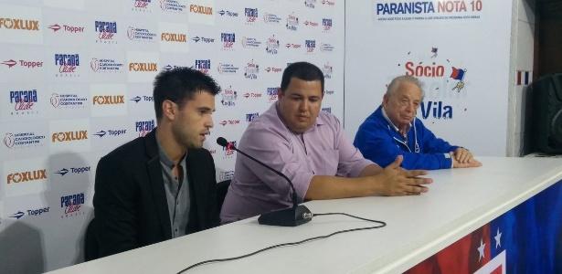 Em cerimônia, Matheus Saroli citou amor que o pai, Caio Júnior, tinha pelo Paraná Clube