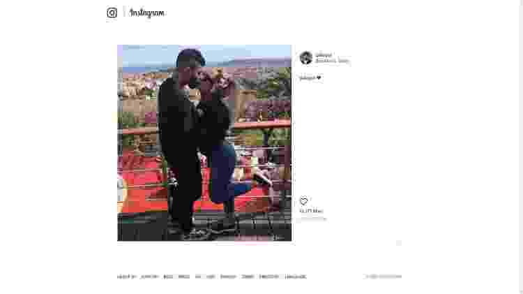 Gabigol publica foto beijando a irmã de Neymar, Rafaella - @gabigol/Instagram - @gabigol/Instagram