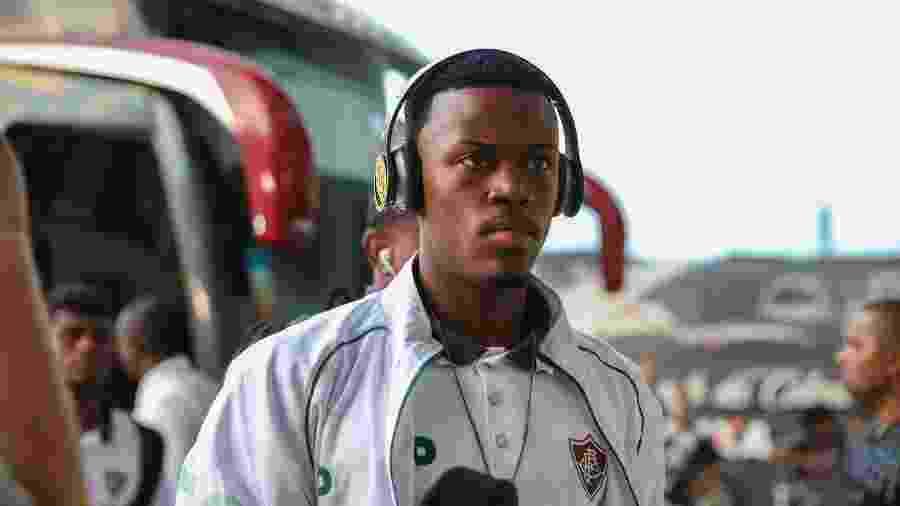 Marcos Calazans, meia-atacante do Fluminense, em chegada ao Maracanã - Divulgação/Fluminense