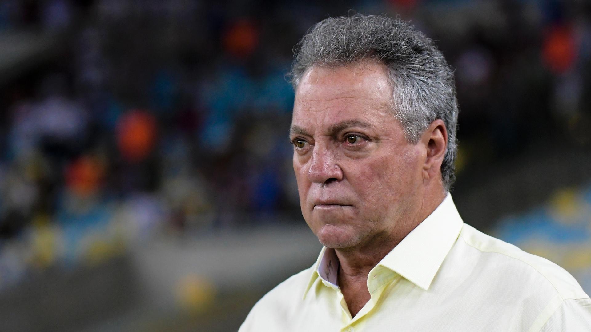 Abel Braga, técnico do Fluminense, durante a partida contra o São Paulo