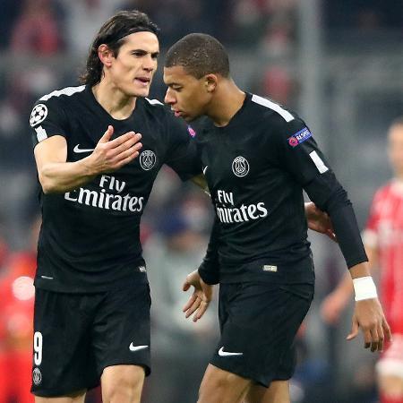 Jogadores atuaram lado a lado com a camisa do PSG; agora, Cavani é do United - Michael Dalder/Reuters
