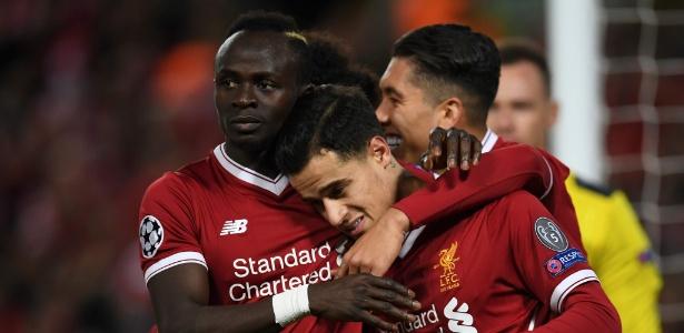 Mané, Coutinho e Firmino receberam a companhia de Salah nesta temporada