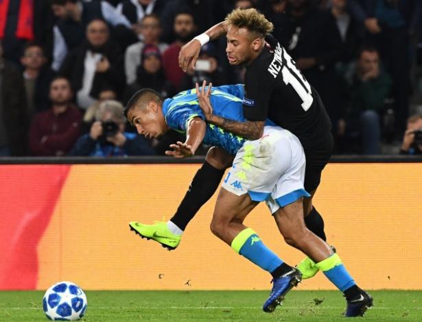 Allan não deu espaço para Neymar no duelo entre PSG e Napoli