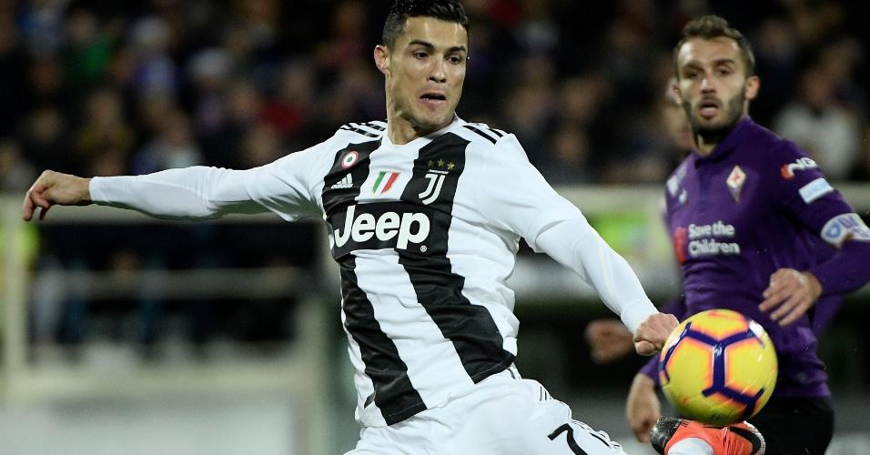 Cristiano Ronaldo no duelo entre Fiorentina e Juventus