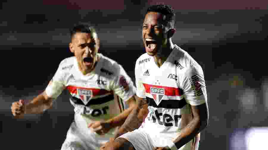 Tchê Tchê comemora gol do São Paulo contra o Flamengo - Alan Morici/AGIF