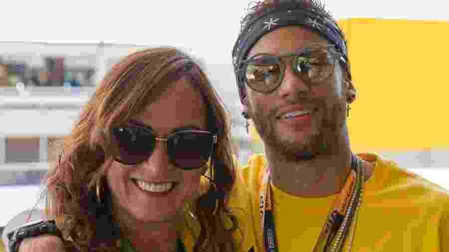Neymar posa para foto com Nadine no GP da Espanha de Fórmula 1 - reprodução/Instagram