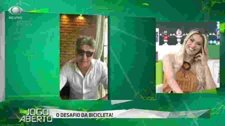 Renato Gaúcho alfineta Renata Fan - Reprodução/ Bandeirantes