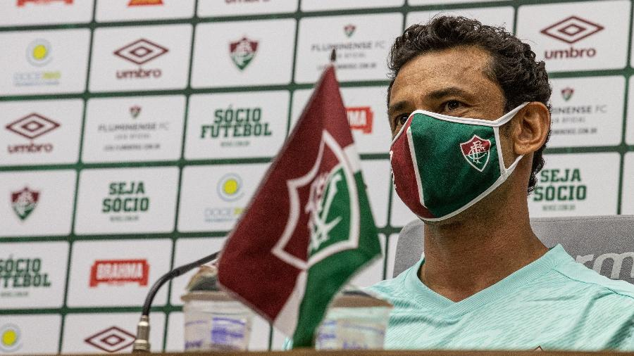 """Fred em sua apresentação """"virtual"""" no Fluminense  - Lucas Merçon/Fluminense FC"""