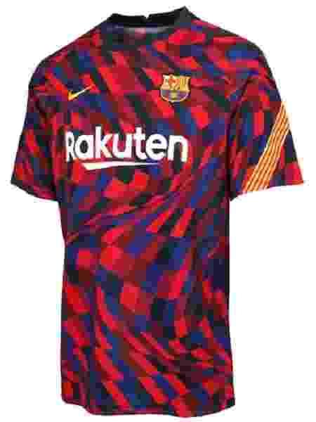 Camisa de aquecimento nova do Barcelona - Reprodução