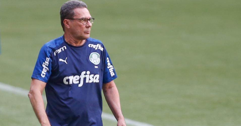 Vanderlei Luxemburgo comanda o Palmeiras na partida contra o Flamengo