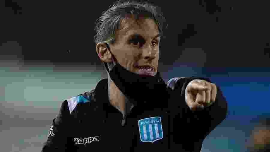 Sebastián Beccacece elogiou jogadores do clube argentino e disparou contra anulação de um gol da equipe - Juan Ignacio RONCORONI / AFP