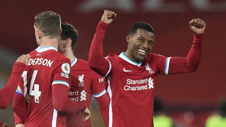 Georginio Wijnaldum, jogador do Liverpool - Pool via REUTERS/Peter Powell