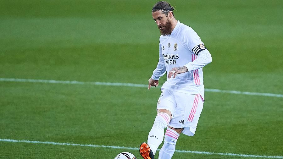 Sergio Ramos durante jogo do Real Madrid contra o Athletic Bilbao - Fran Santiago/Getty Images