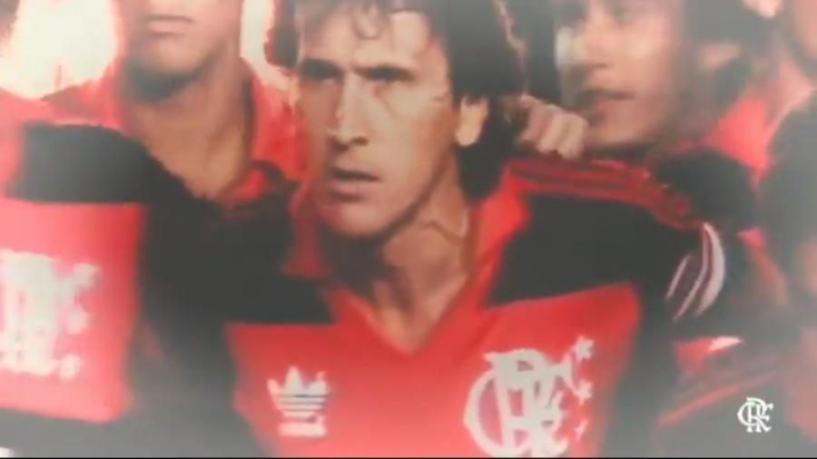 Flamengo celebra aniversário de Zico - Reprodução/Twitter