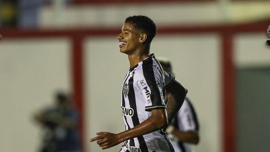 Marrony fez o terceiro do Galo na partida e assumiu a artilharia do Mineiro - Reprodução/Twiter