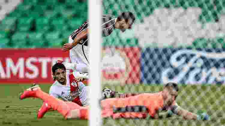 Fred marcou 183º gol pelo Fluminense contra o River Plate, pela Libertadores - Lucas Merçon/Fluminense FC - Lucas Merçon/Fluminense FC