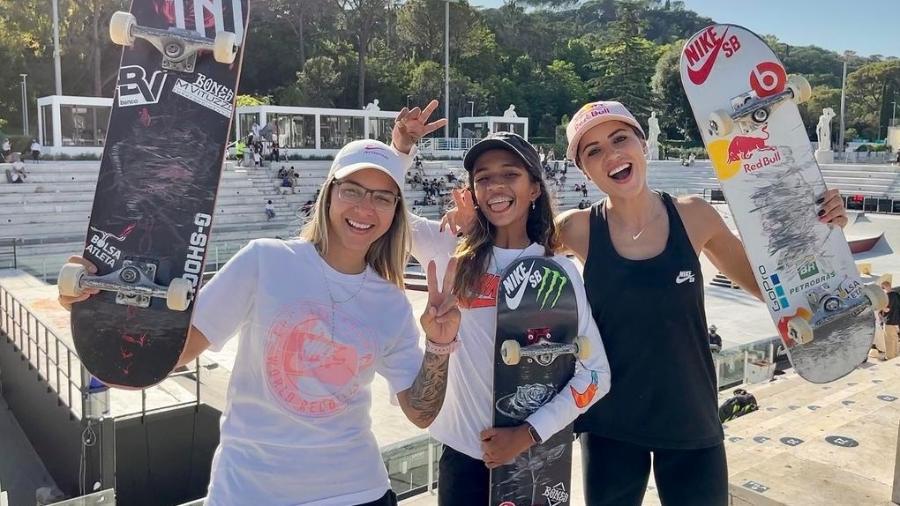 Pâmela Rosa, Rayssa Leal e Letícia Bufoni - Divulgação