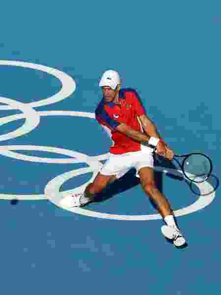 Novak Djokovic na primeira rodada dos Jogos Olímpicos de Tóquio 2020 - Reuters - Reuters