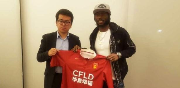 Atacante atuará pelo Hebei China Fortune, promovido da segunda divisão - Divulgação