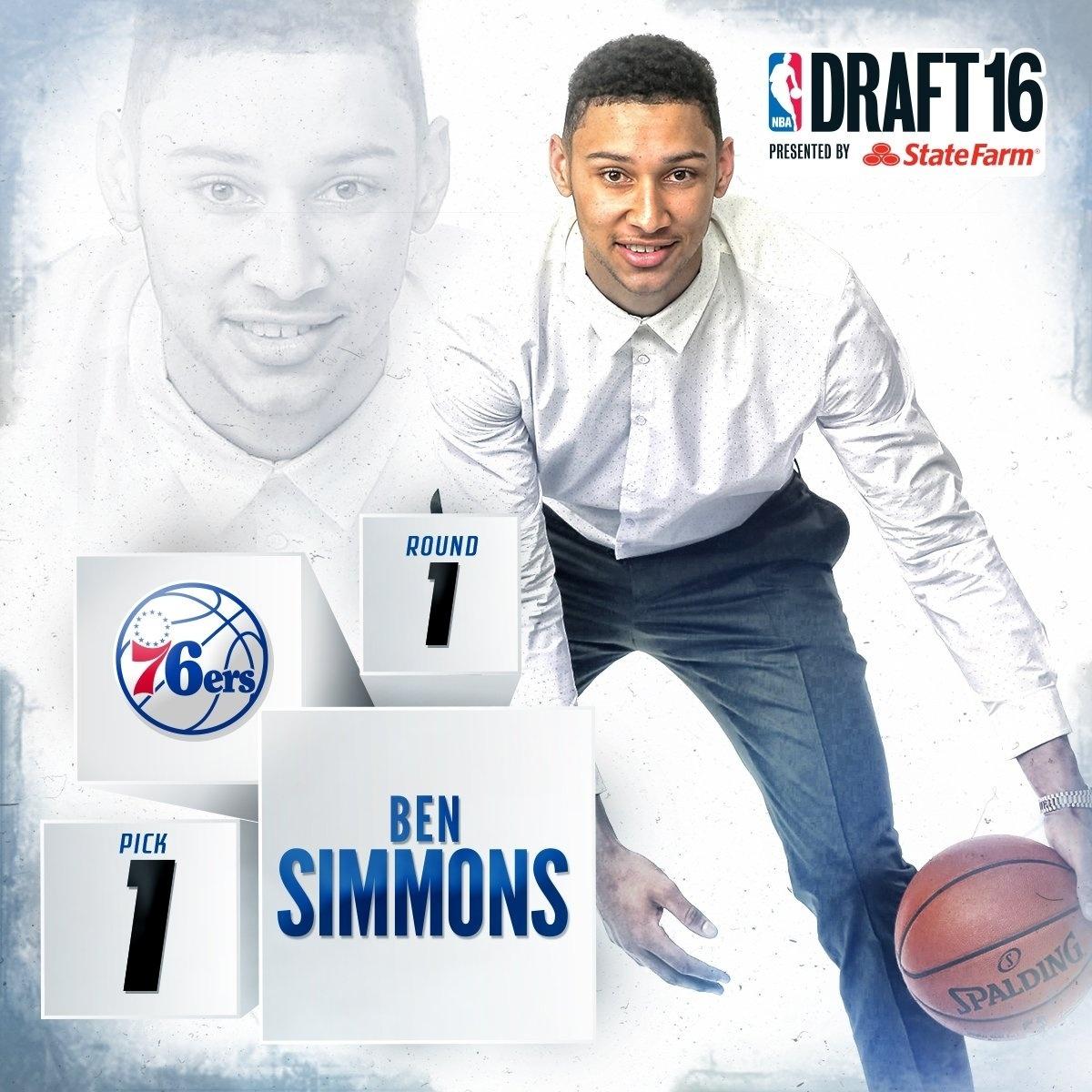 270d42407 Ala australiano é escolhido como 1º do draft da NBA pelo Philadelphia 76ers  - 24 06 2016 - UOL Esporte