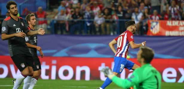 Carrasco fez o gol da vitória do Atlético de Madri sobre o Bayern