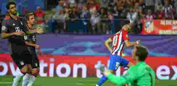 Carrasco fez o gol da vitória do Atlético de Madri sobre o Bayern - Paul Hanna/Reuters