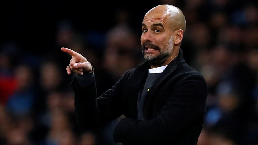 Pep Guardiola, técnico do Manchester City, na partida contra o Basel - Reuters/Jason Cairnduff