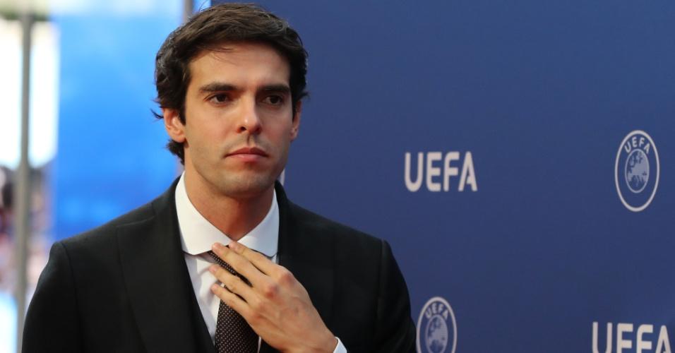 O brasileiro Kaká durante o sorteio dos grupos da Liga dos Campeões