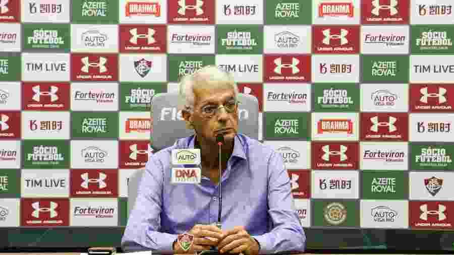 Celso Barros não é favorável à permanência de Marcão no comando do Fluminense - FOTO DE LUCAS MERÇON/ FLUMINENSE FC