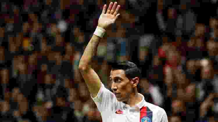 Di Maria fez dois gols pelo PSG contra o Nice; Mbappé fez o terceiro - Eric Gaillard/Reuters
