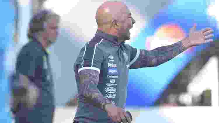Jorge Sampaoli, do Santos, durante jogo contra o Flamengo - Ivan Storti/Santos/Divulgação - Ivan Storti/Santos/Divulgação