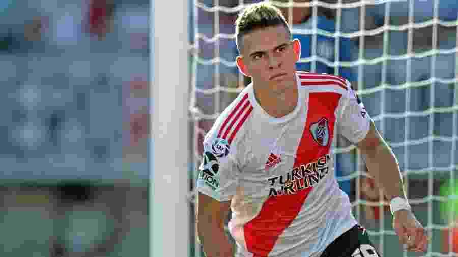 Rafael Borré, atacante do River Plate, pode ser negociado com clube da Inglaterra - Alejandro Pagni/AFP