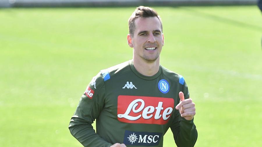 Arkadiusz Milik deve se se transferir do Napoli para a Juventus, diz site - SSC NAPOLI/SSC NAPOLI via Getty Images