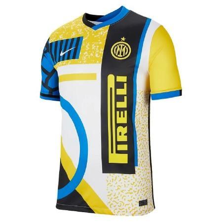 Camisa reúne detalhes exóticos e pouco tradicionais no mundo do futebol - Reprodução/Inter.it