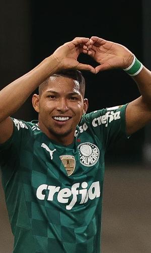 Rony comemora o gol do Palmeiras no Allianz Parque pela Libertadores