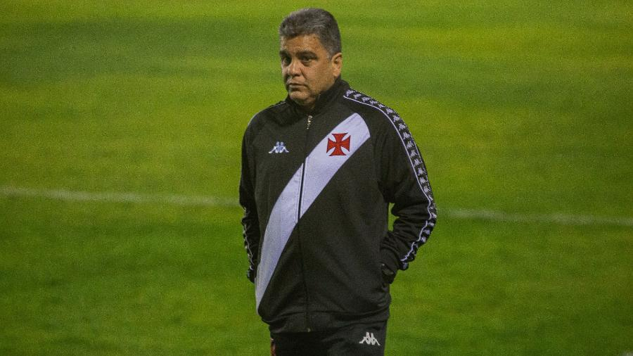 Marcelo Cabo, técnico do Vasco, durante partida contra o Brasil de Pelotas, pela Série B do Brasileiro - Volmer Perez/AGIF