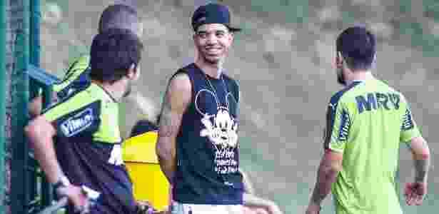 Diego Tardelli aproveitou as férias no futebol chinês e visitou os amigos na Cidade o Galo - Bruno Cantini/Clube Atlético Mineiro