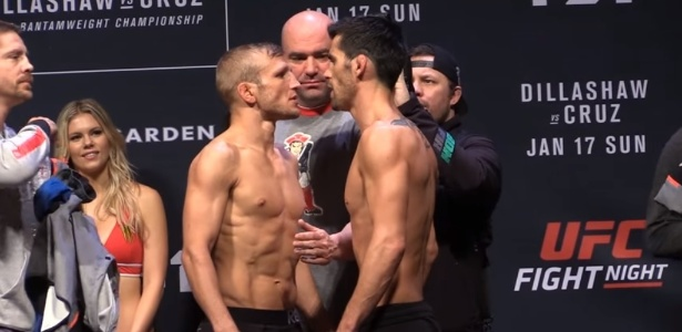 TJ Dillashaw e Dominick Cruz fizeram encarada quente antes da disputa de cinturão - Reprodução/Internet