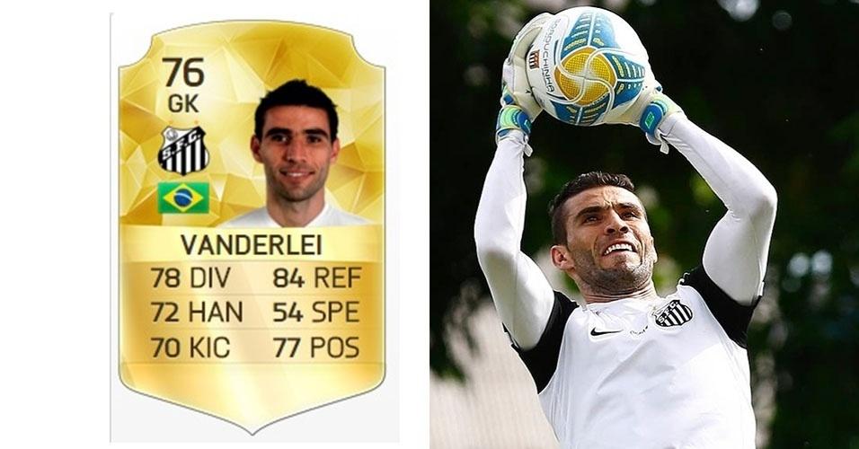 O goleiro Vanderlei, do Santos, quer ser indenizado em R$ 220 mil. O valor que cada atleta pede depende de quantas versões do jogo, de 2009 a 2014, utilizaram sua imagem